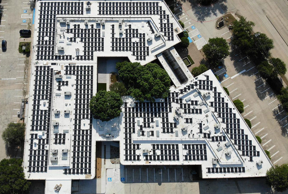 HEXA Coworking Completes Addition of 700 Panel Solar Farm